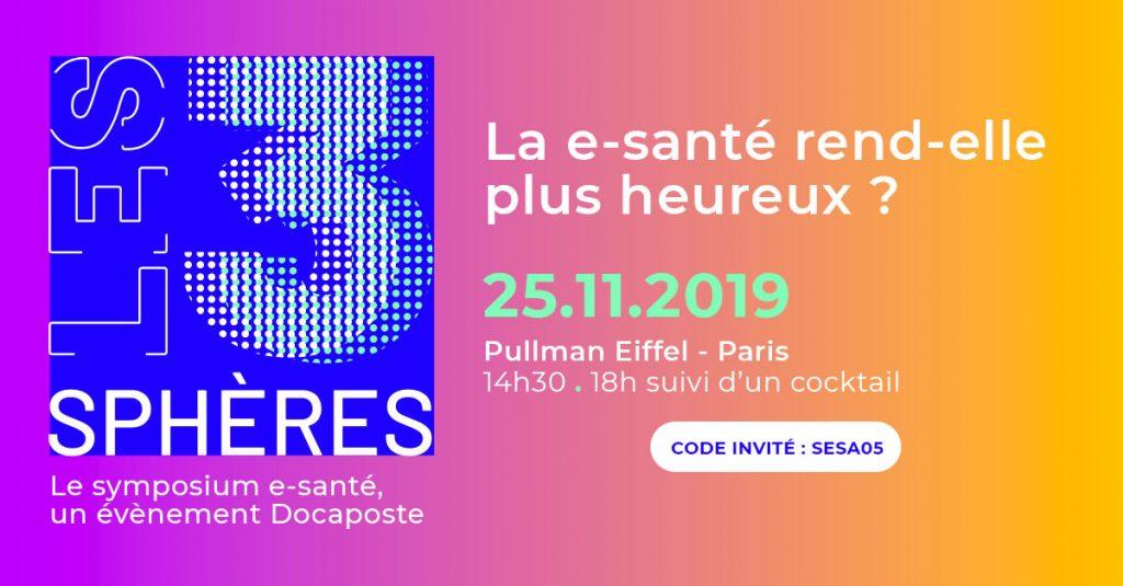 le carton d'invitation du Symposium 2019 Les 3 Sphères