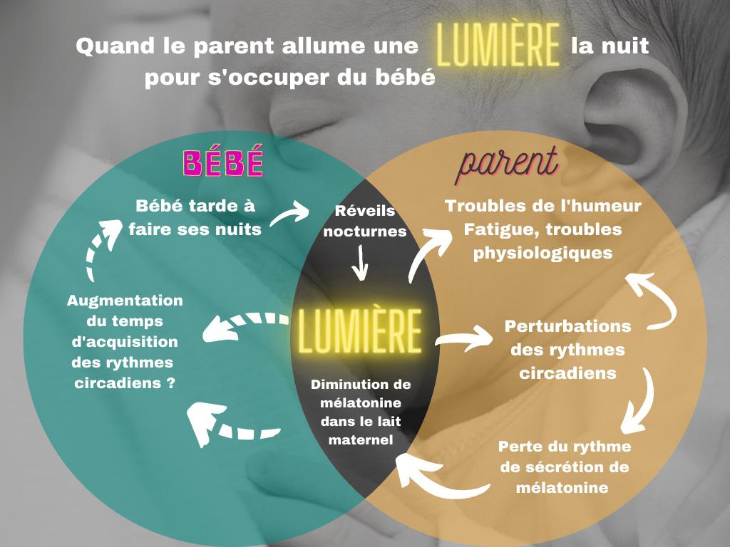 Schéma lumière bébé parents